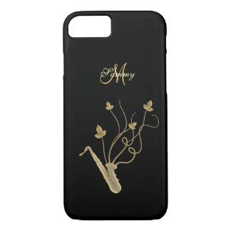 Caso del iPhone 7 del saxofón del oro del Funda Para iPhone 8/7
