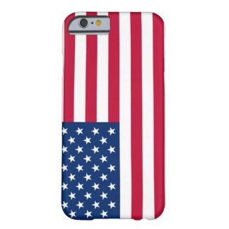 caso del iPhone - bandera de los E.E.U.U. Funda Barely There iPhone 6
