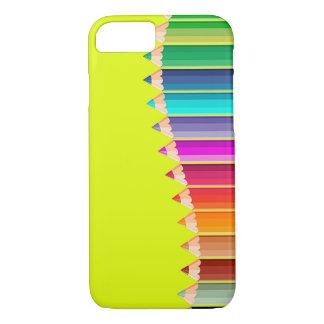 caso del iPhone con los lápices del color Funda iPhone 7