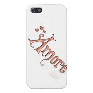 Caso del iphone de Amore iPhone 5 Fundas