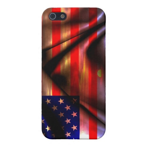 Caso del iPhone de la bandera de los E.E.U.U. iPhone 5 Cárcasas
