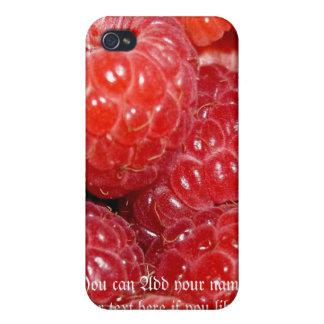 Caso del iphone de la diversión de la frambuesa iPhone 4 cárcasas