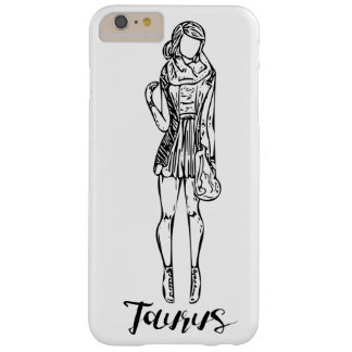 Caso del iPhone de la moda del tauro de las Funda Barely There iPhone 6 Plus