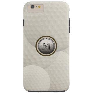 Caso del iPhone de la pelota de golf del monograma Funda Para iPhone 6 Tough