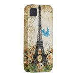 Caso del iPhone de la torre de Effiel del pájaro iPhone 4 Carcasa