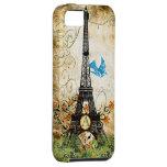 Caso del iPhone de la torre de Effiel del pájaro iPhone 5 Case-Mate Funda