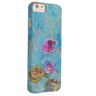 Caso del iPhone de los pescados y de las burbujas Funda Barely There iPhone 6 Plus