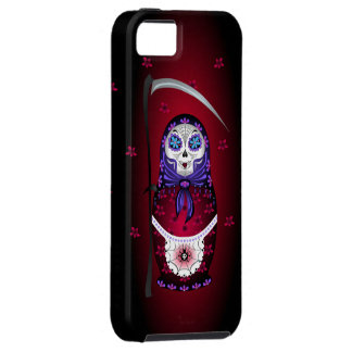 Caso del iPhone de Santa Muertryoshka iPhone 5 Case-Mate Coberturas