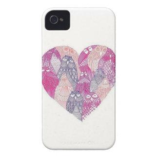 Caso del iPhone del corazón del búho iPhone 4 Cárcasas