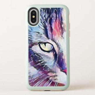 Caso del iPhone del iPhonex del ojo de gato