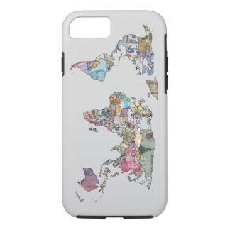 Caso del iphone del mapa de la moneda del mundo funda iPhone 7