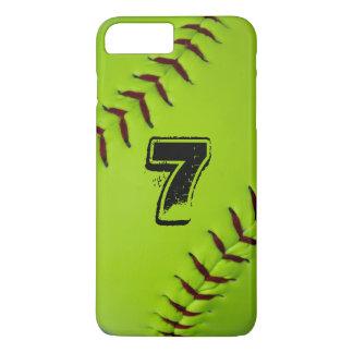 Caso del iphone del softball funda iPhone 7 plus