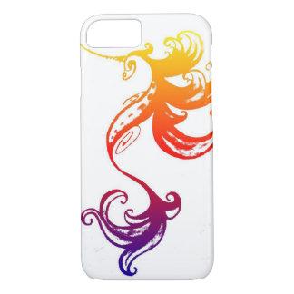 Caso del iphone del unicornio del arco iris funda iPhone 7