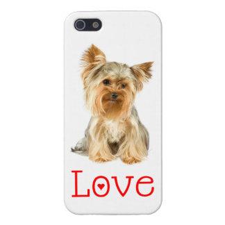 caso del perro de perrito de Yorkshire Terrier del iPhone 5 Protector