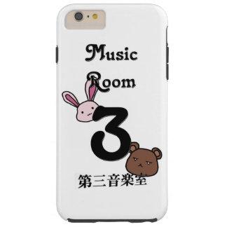 Caso del sitio 3 de la música funda para iPhone 6 plus tough