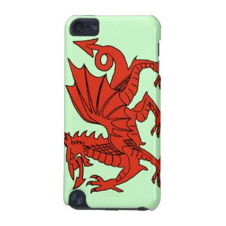 Caso del tacto de iPod de la bandera del dragón Ga