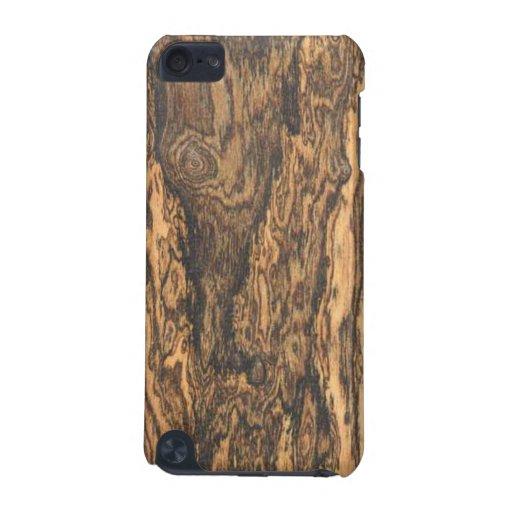 Caso del tacto de iPod del final de Bocote (madera