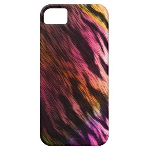 Caso del tigre del teñido anudado para el iPhone 5 iPhone 5 Case-Mate Cobertura