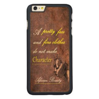 Caso delgado del iPhone del arce de la belleza Funda Para iPhone 6 De Carved® De Arce