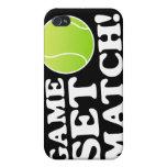 Caso determinado del tenis del partido del juego p iPhone 4 carcasa