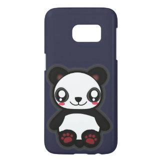 Caso divertido de la panda de Kawaii para la Funda Samsung Galaxy S7