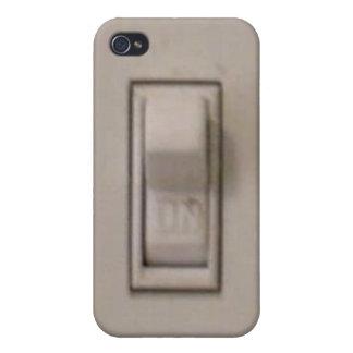 Caso divertido del iPhone 4 del interruptor de la  iPhone 4 Cárcasas