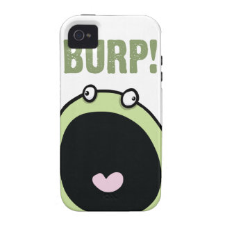 Caso divertido del iPhone 4 del monstruo del Burp Case-Mate iPhone 4 Carcasa