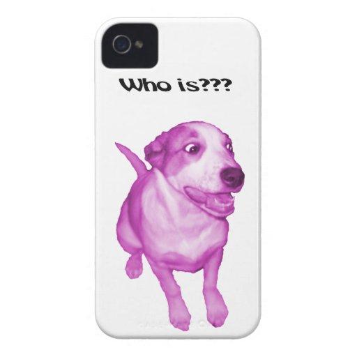 Caso divertido, perro divertido iPhone 4 Case-Mate fundas