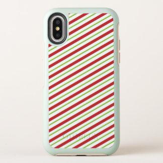 Caso dulce del iPhone X del modelo el | del bastón