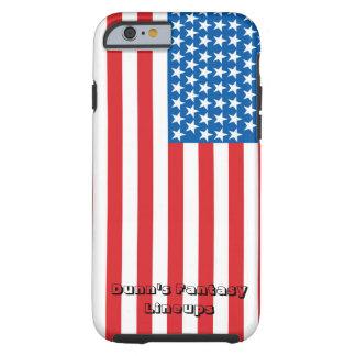 caso duro del iPhone 6/6s (blanco con la bandera) Funda Resistente iPhone 6
