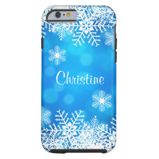 Caso duro del iPhone 6 de Bokeh del copo de nieve Funda Resistente iPhone 6