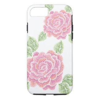 caso duro del iPhone 7 de los rosas del punto Funda iPhone 7