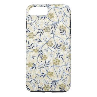 Caso duro más del iPhone 7 del jazmín azul Funda Para iPhone 8 Plus/7 Plus