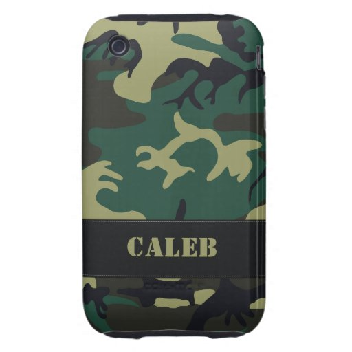 Caso duro militar adaptable del iPhone 3 de Camo Tough iPhone 3 Fundas