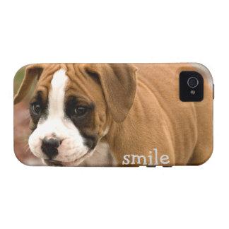 Caso duro sonriente de Iphone 4 del perro del Case-Mate iPhone 4 Fundas