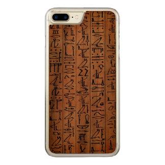 Caso egipcio de los hieroglyphics para el iPhone Funda Para iPhone 8 Plus/7 Plus De Carved