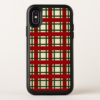 Caso elegante del iPhone X del modelo del navidad