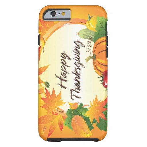 Caso feliz de la acción de gracias 5 funda de iPhone 6 tough