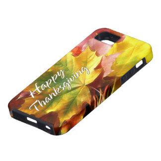 Caso feliz de la acción de gracias 7 iPhone 5 funda