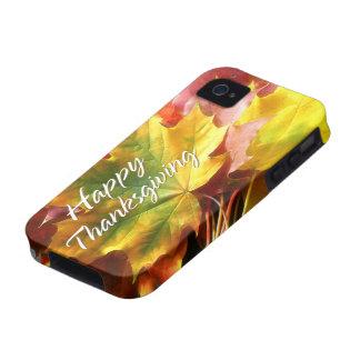 Caso feliz de la acción de gracias 7 iPhone 4 fundas