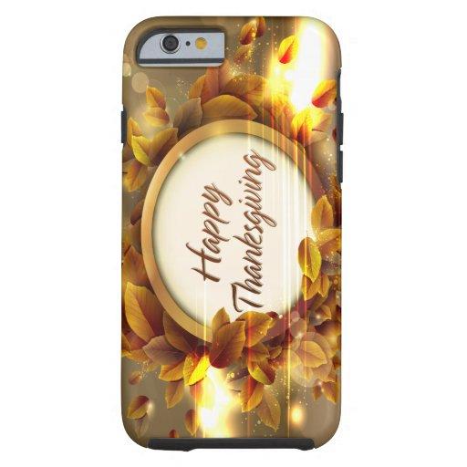 Caso feliz de la acción de gracias funda de iPhone 6 tough
