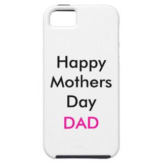 Caso feliz de la diversión del papá del día de mad iPhone 5 carcasas