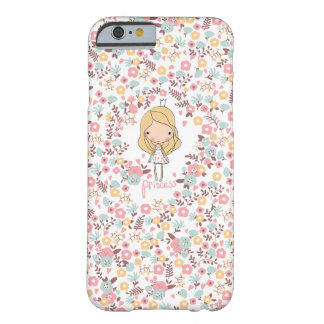 Caso femenino del iPhone 6 de la princesa Funda Barely There iPhone 6