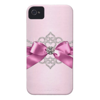 Caso femenino del purpurina del jewell funda para iPhone 4 de Case-Mate