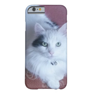 Caso femenino lindo bonito del iPhone del gato Funda Barely There iPhone 6