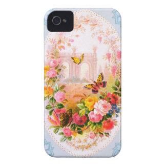 Caso floral de Iphone 4S del vintage iPhone 4 Case-Mate Coberturas
