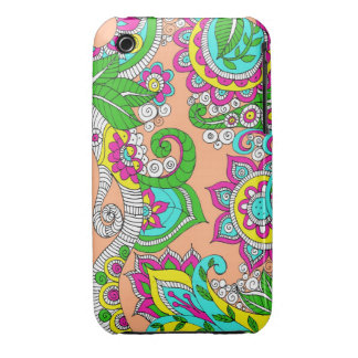 Caso floral del iPhone 3 de Paisley Funda Para iPhone 3