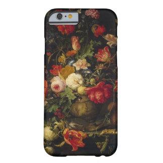 Caso floral del iPhone 6 del florero del vintage Funda De iPhone 6 Barely There