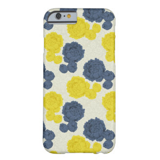 Caso floral del iPhone 6 del vintage de los azules Funda Barely There iPhone 6