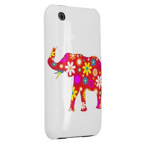 Caso floral retro enrrollado del iphone 3G del ele iPhone 3 Cobertura